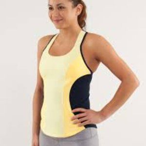 Lululemon Cardio Kick Tank - Lemon/Navy - Sz 6